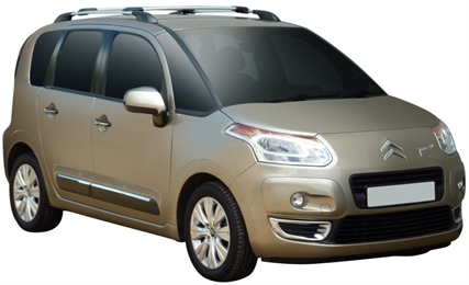 Багажник Wispbar с поперечиной RailBar Citroen C3 Picasso 2009 + (Rails) c рейлингами