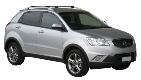 Багажник Wispbar с поперечиной RailBar SsangYong New Actyon  5 Door SUV 2011 + (Rails) c рейлингами